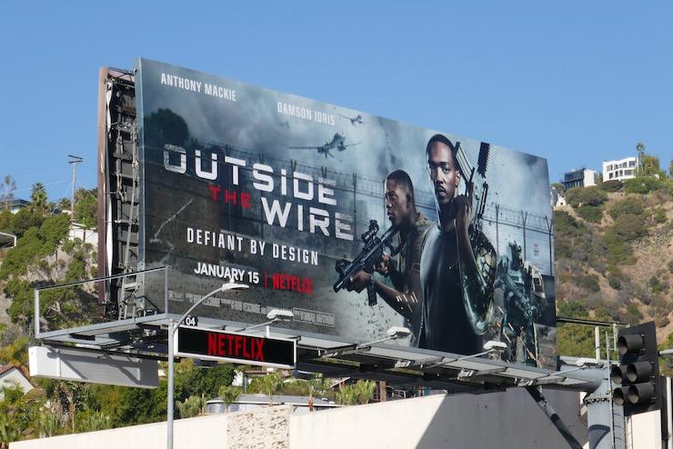Outside the Wire Netflix film billboard