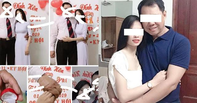 Xôn xao lễ đính hôn của thầy giáo U50 và nữ sinh 20 tuổi ở Long An