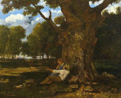 Crédit photo © Institut Courbet d'Ornans - Gustave Courbet, Les Amoureux dans la nature 1873