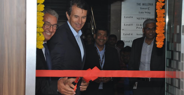 Mr. Patrice Perche, senior executive vice president, Worldwide Sales and Support at Fortine inaugurates the Innovation centre