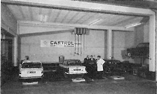 S Hicks workshop with Castrol Car Care Unit