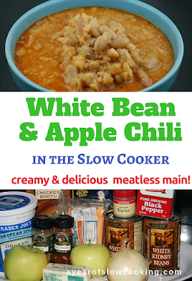 If you are looking for a great new meatless main dish that will make the entire family happy, look no longer. This creamy apple and white bean chili is light and healthy and a delicious vegetarian main course.