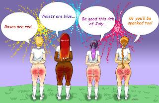 4th of July spanking meme
