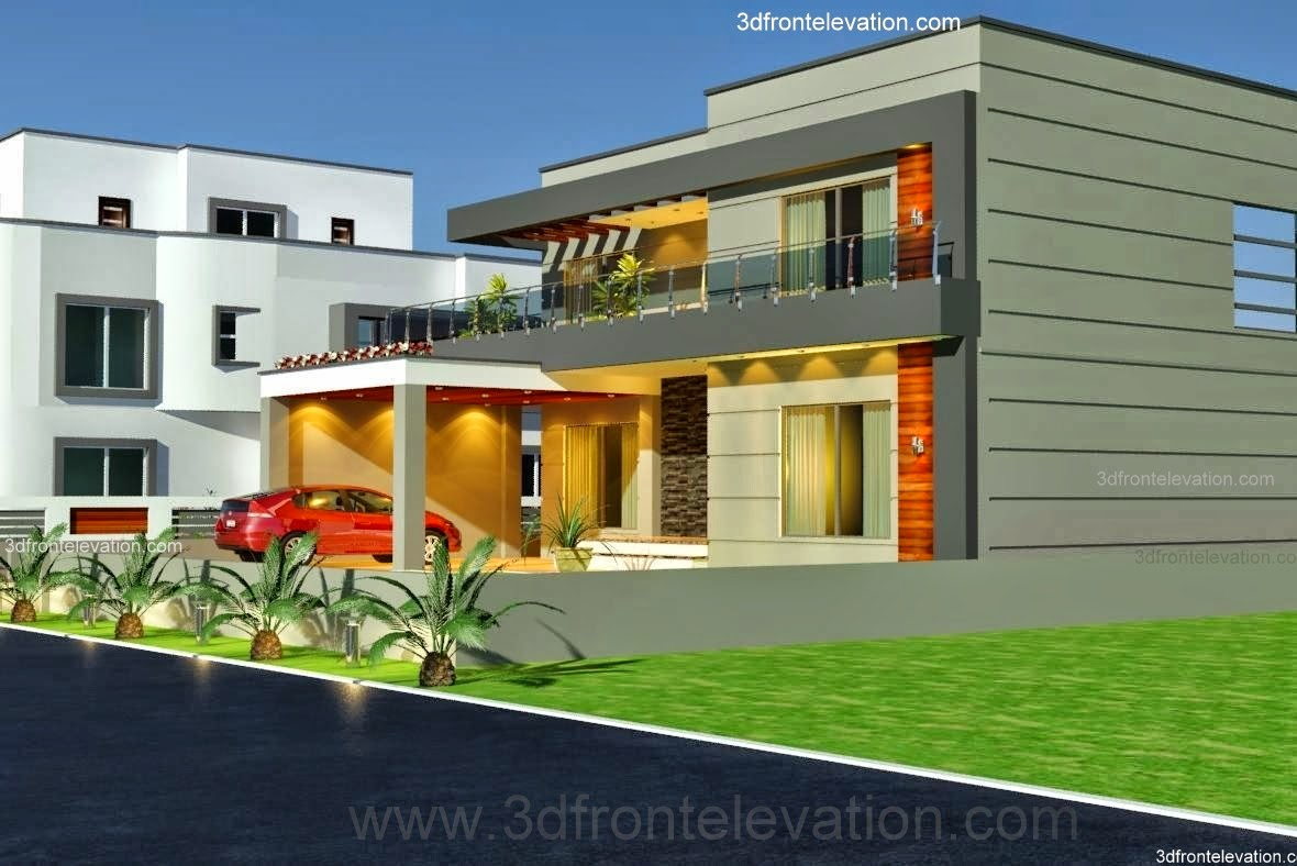 Home Design Ideas Elevation: 3D Front Elevation.com: 1 Kanal Old Style House Convert In