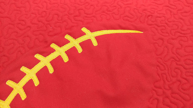 Chiefs football mini quilt