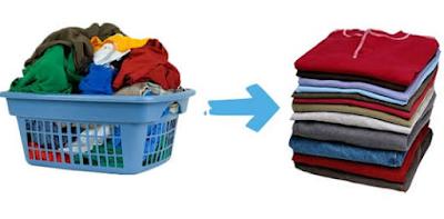 Hasil Cucian Pakaian Baju Dan Celana