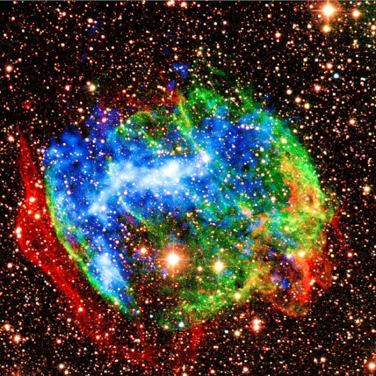 Explosão de raios gama na Via Láctea