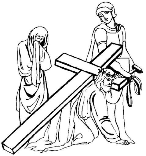 Desenhos da Paixão de Cristo para colorir