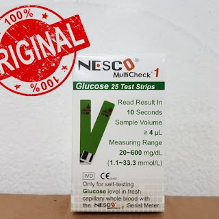 X-Logers.net Nesco Strip Refil Gula Darah Glucose 25 Refill