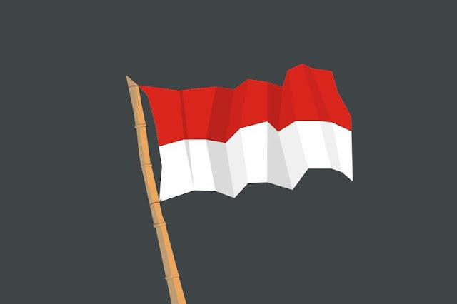 gambar bendera merah putih vector