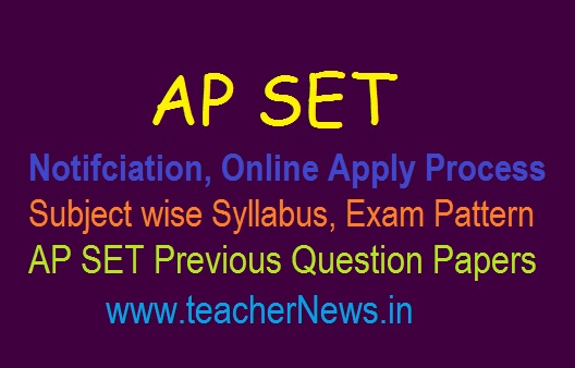APSET Registration Online Apply Notification Schedule 2019 | Subject Syllabus, Exam Pattern, Fees