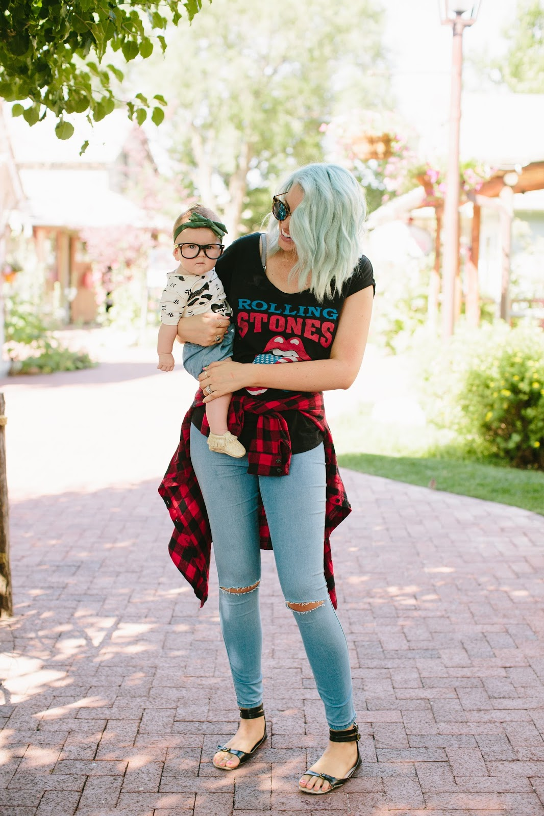 Mommy and Me, Utah Fashion Blogger, Band Tee