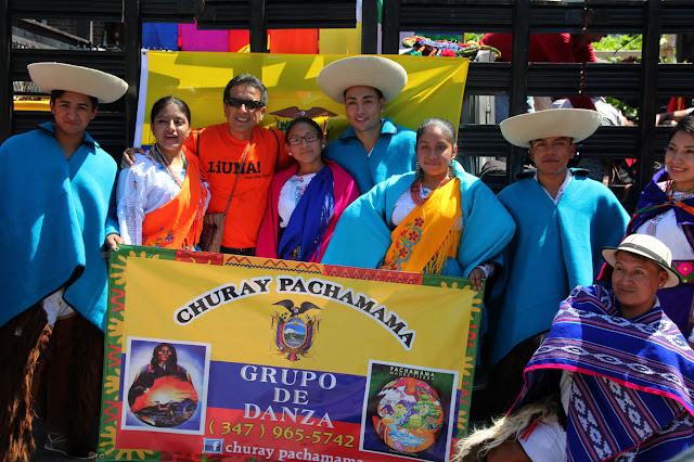 foto de grupo de danza folclorica ecuatoriana en Queens NY. Churay pachamama