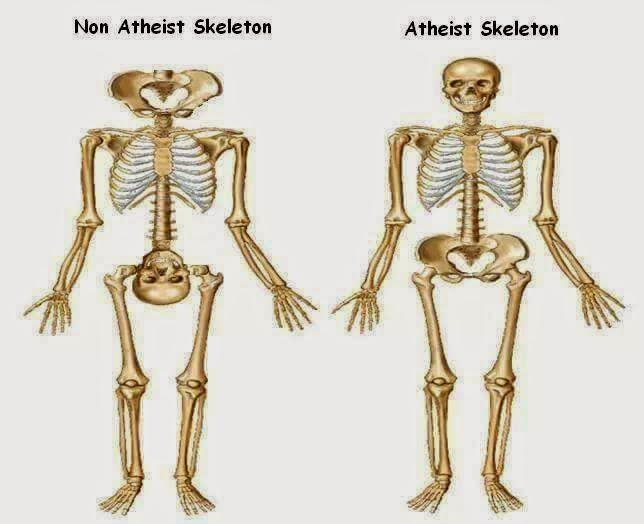 Funny Non-Atheist Skeleton Joke Picture