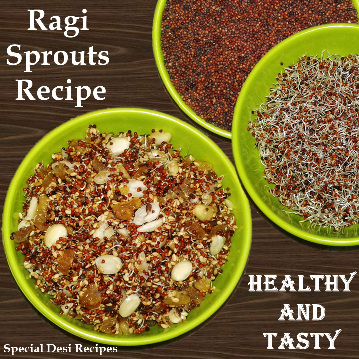 ragi sprouts salad special desi recipes