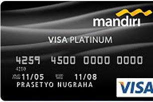 Iuran Tahunan Kartu Kredit mandiri Visa Platinum Turun Menjadi Rp.500.000