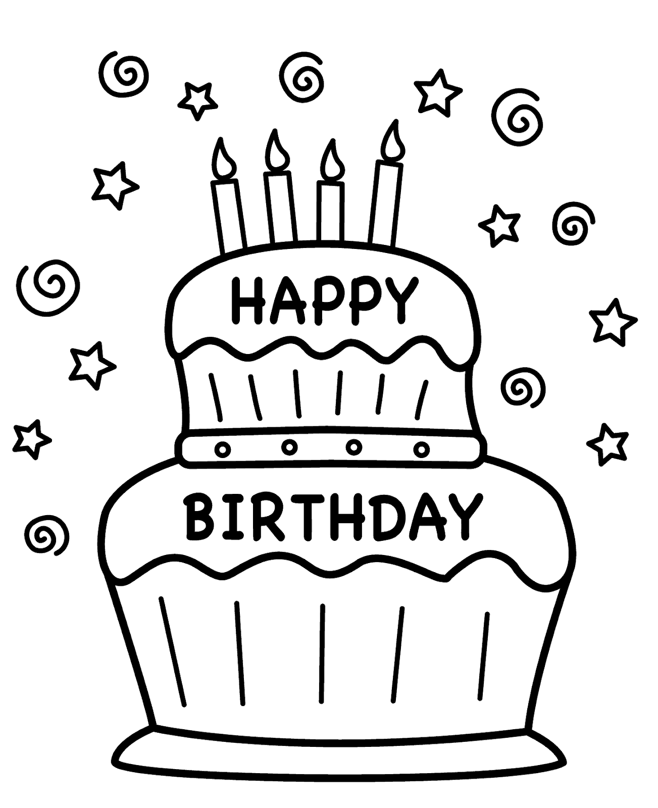 Mewarnai Kue Ulang Tahun : mewarnai, ulang, tahun, Kumpulan, Gambar, Mewarnai, Ulang, Tahun, Terbaru, Gambarcoloring