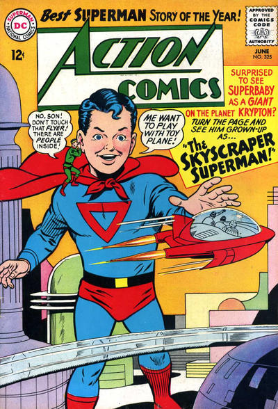 Episode #383 Part III: Superman Comic Book Cover Dated June 1965: Action Comics #325!