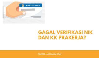 Gagal Verifikasi Nomor NIK dan KK di Prakerja