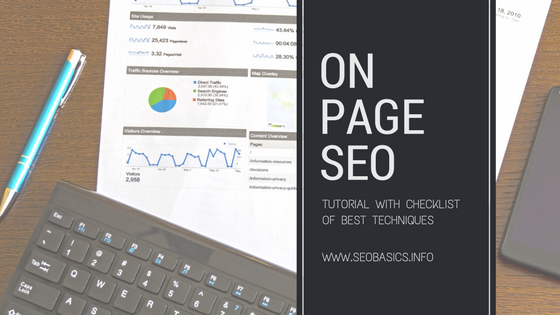 On Page SEO: Kostenloses Tutorial, Checkliste, Beste Techniken