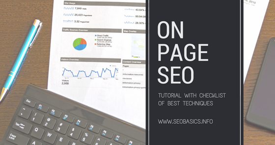 Outsource Services, Audit, Research, Tips: On Page SEO: Free Tutorial, Checklist, Best Techniques (2018)