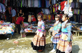 Vietnam. Mercado de Bac Ha.