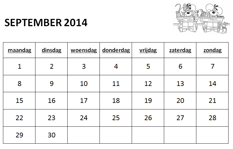 gietjes corner schooljaarkalender 2014 2015. Black Bedroom Furniture Sets. Home Design Ideas