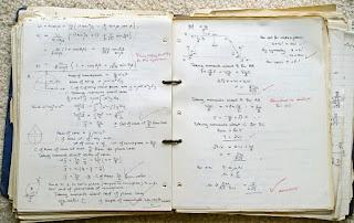 Handwritten math in binder