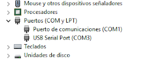 Administrador de dispositivos Windows