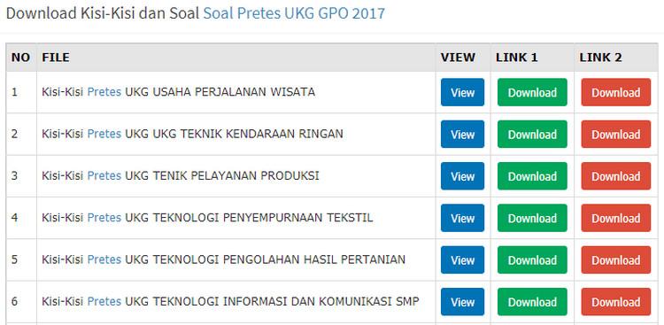 Kisi Kisi Preetes Sim Pkb Guru Sd Smp Sma Smk Semua Mapel Lengkap Wawasan Pendidikan Nusantara