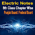 8th Class Electric Notes Chapter Wise Download