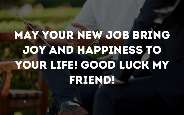 good luck for new job