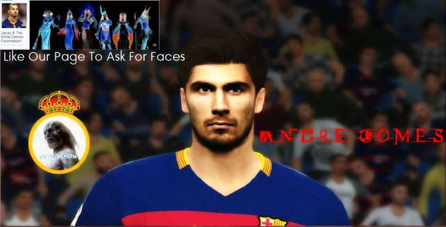 PES 2016 Andre Gomes Face