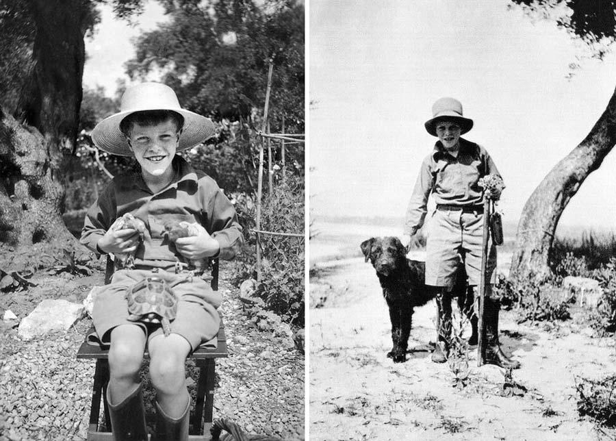 Gerald Durrell in insula Corfu