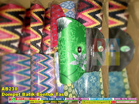 jual Dompet Batik Bentuk Tas