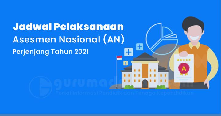 Jadwal Persiapan dan Pelaksanaan Asesmen Nasional AN Perjenjang Tahun 2021