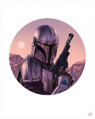 "The Mandalorian ""The Way"" Fine Art Giclee Print by Rory Kurtz x Mondo"