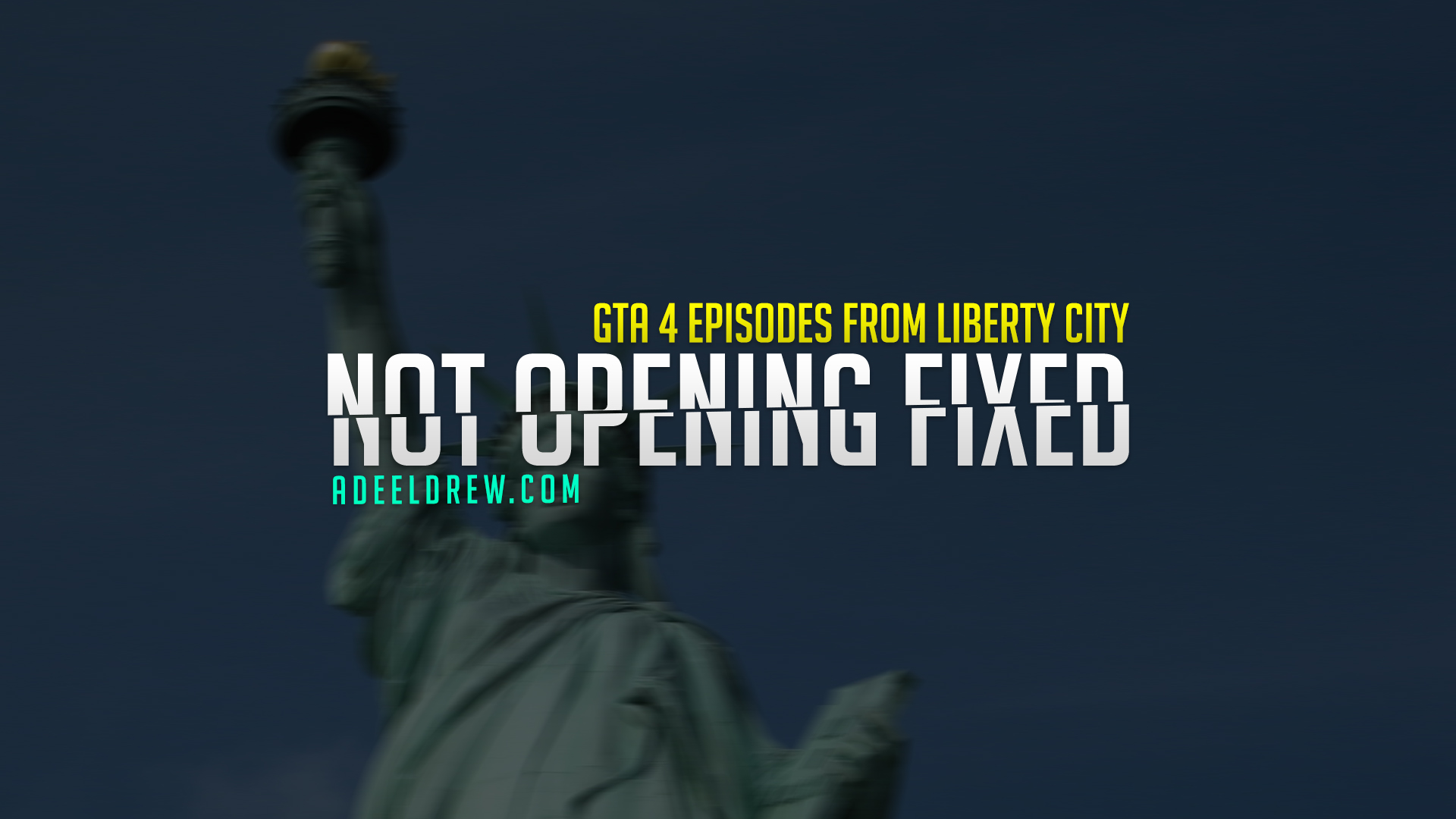How to Fix GTA 4 Complete Edition Not Opening Problem Solved   How to Fix Grand Theft Auto IV Episodes from Liberty City Not Launching Error by AdeelDrew.