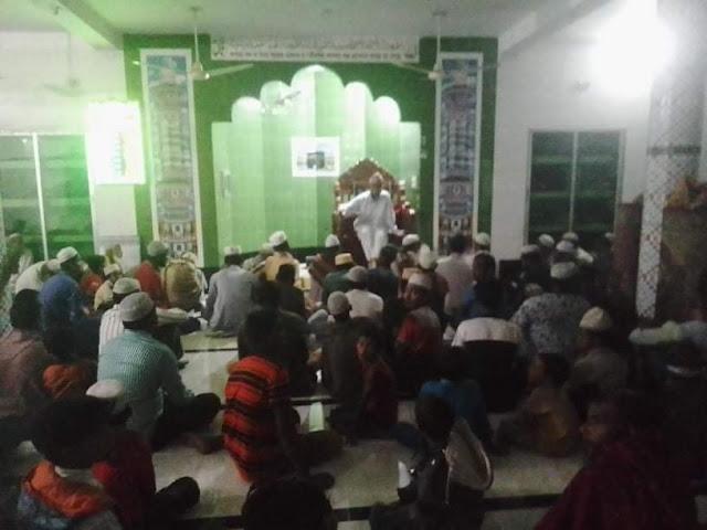 চালিমিয়া পূর্ব পাড়া জামে মসজিদের উদ্যোগে সিরাতুন নবী (সঃ) পালন