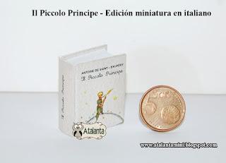 El Principito libro miniatura - minibook Il Piccolo Principe