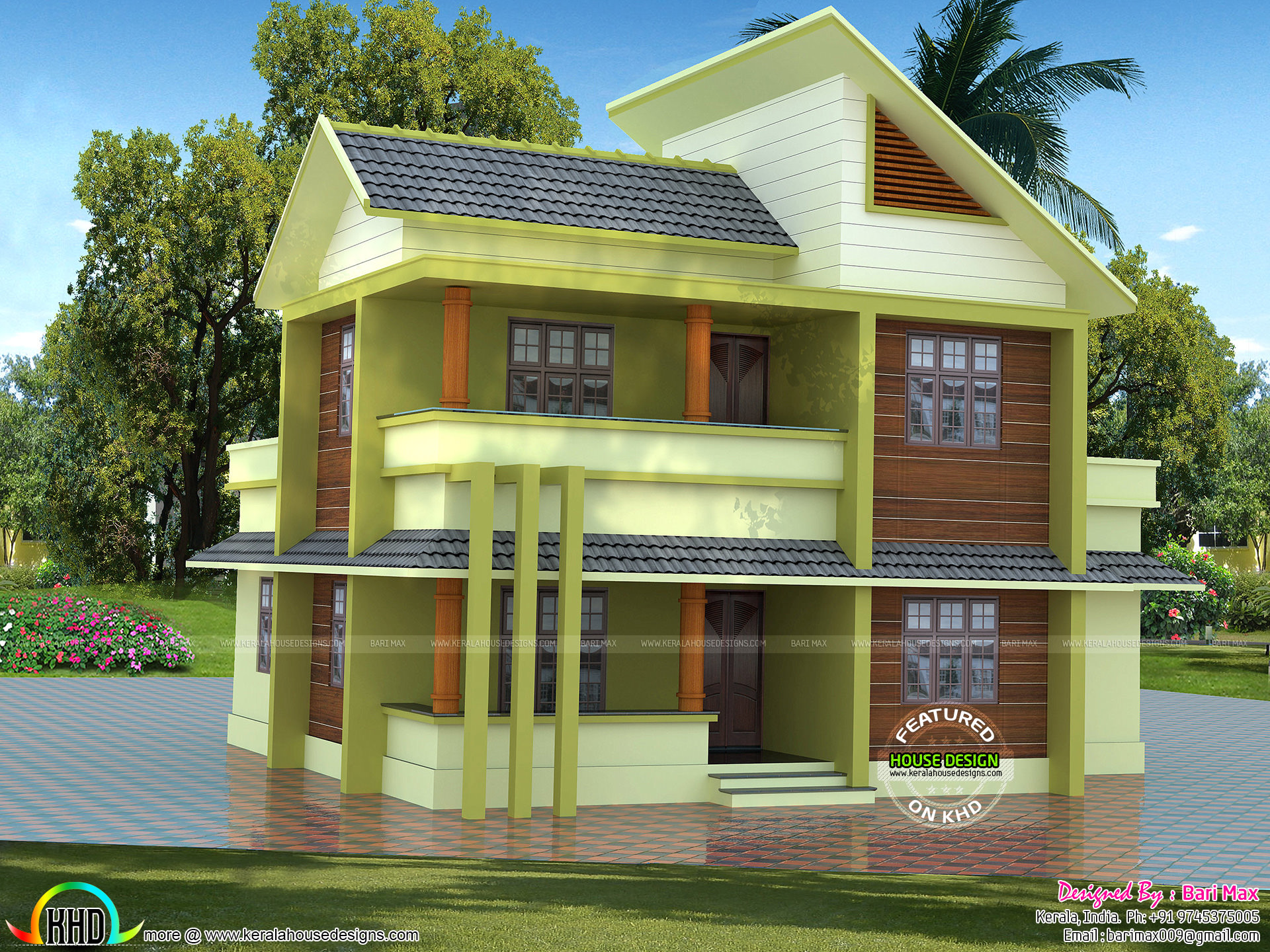 1700 sq ft 30 lakhs cost estimated modern home kerala for Modern house cost