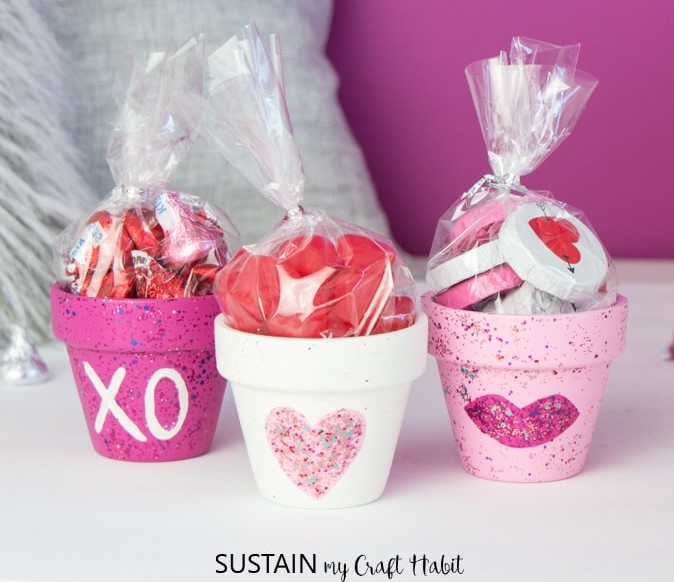 These cute painted pots are a cute way to let the kids in your life know that you love them