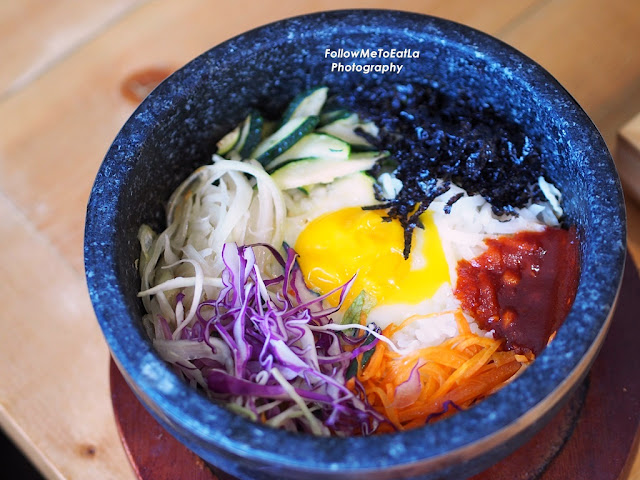 Mixed Rice With Vegetables In Stone Pot Doisot Bibimbab