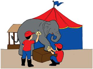 gambar gajah dalma kelompok sirkus www.simplenews.me