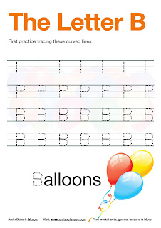 Practice Tracing The Letter B Free Download.