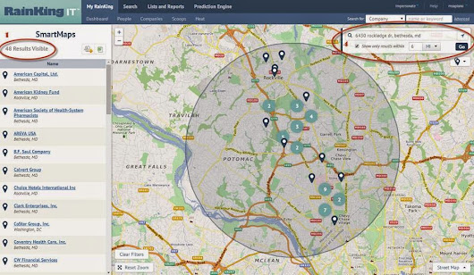 RainKing SmartMaps: Overlay Powerful Sales Data with Mapping Tools