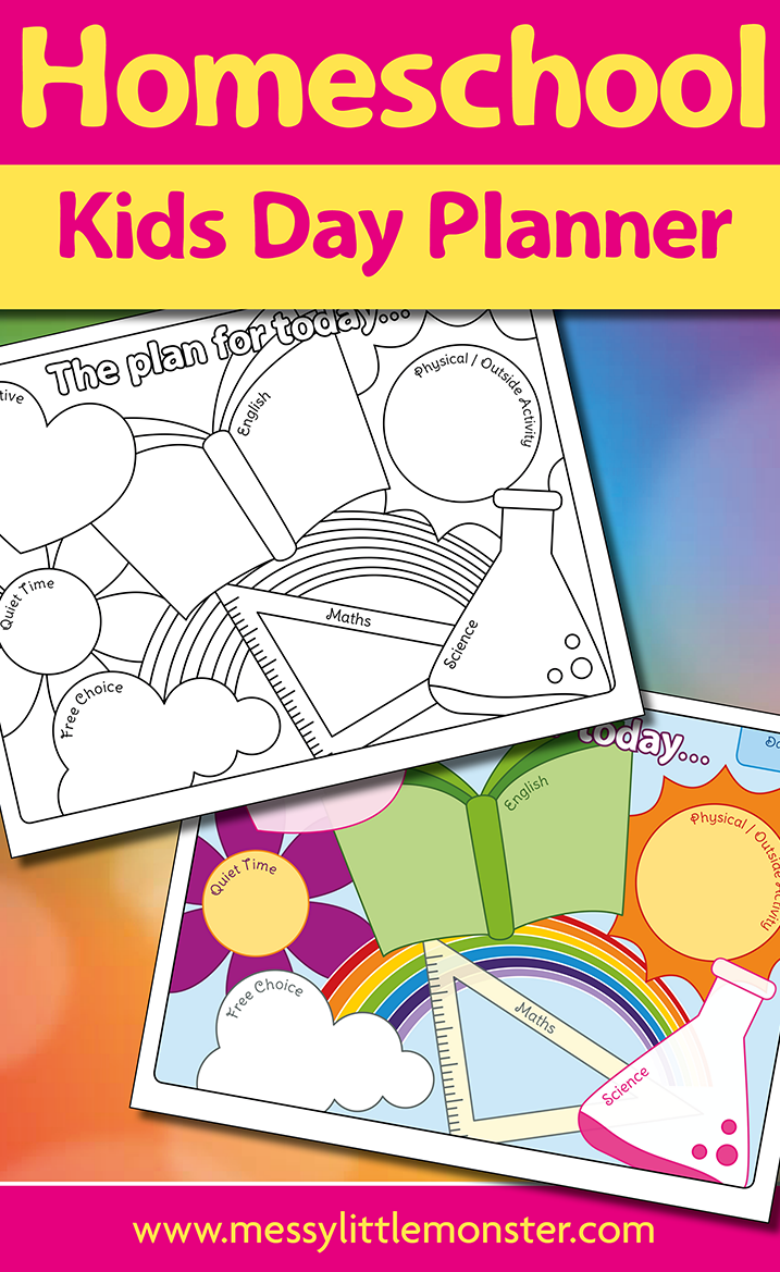 Free Printable Homeschool Planner - kids day planner