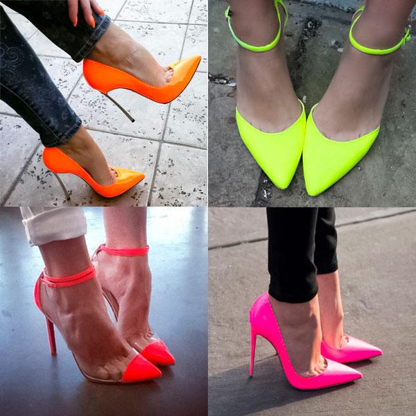 Обувь неоновых цветов