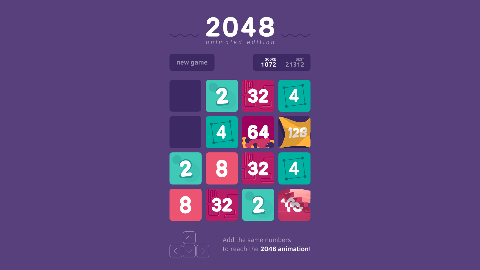 2048 Animated Puzzle