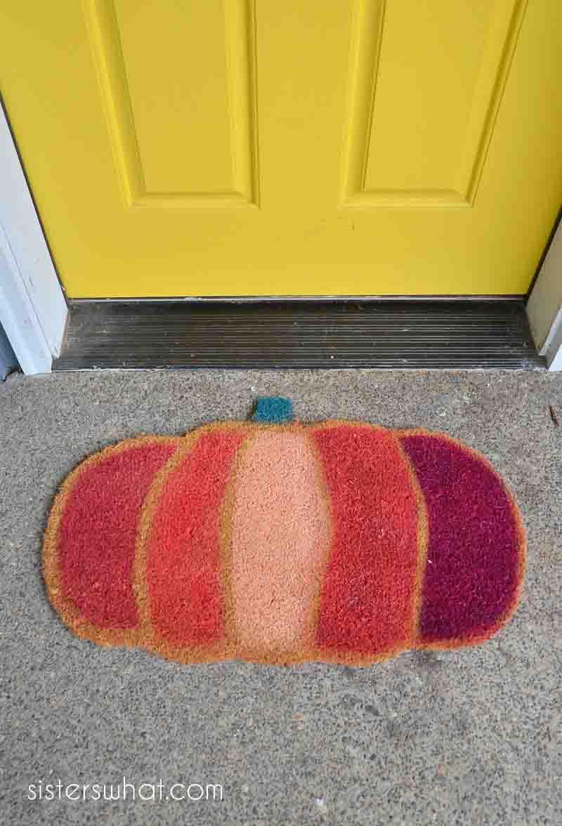 easy diy fall door mat idea
